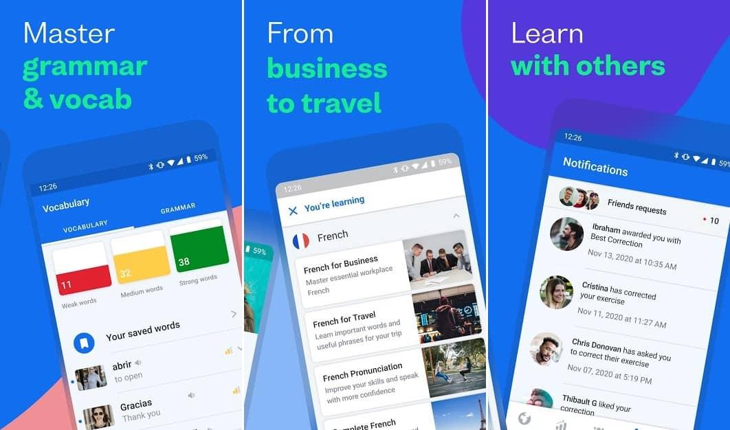 Busuu best language learning apps