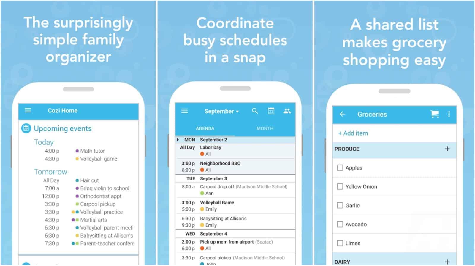 Image de la grille de l'application Cozi Family Organizer