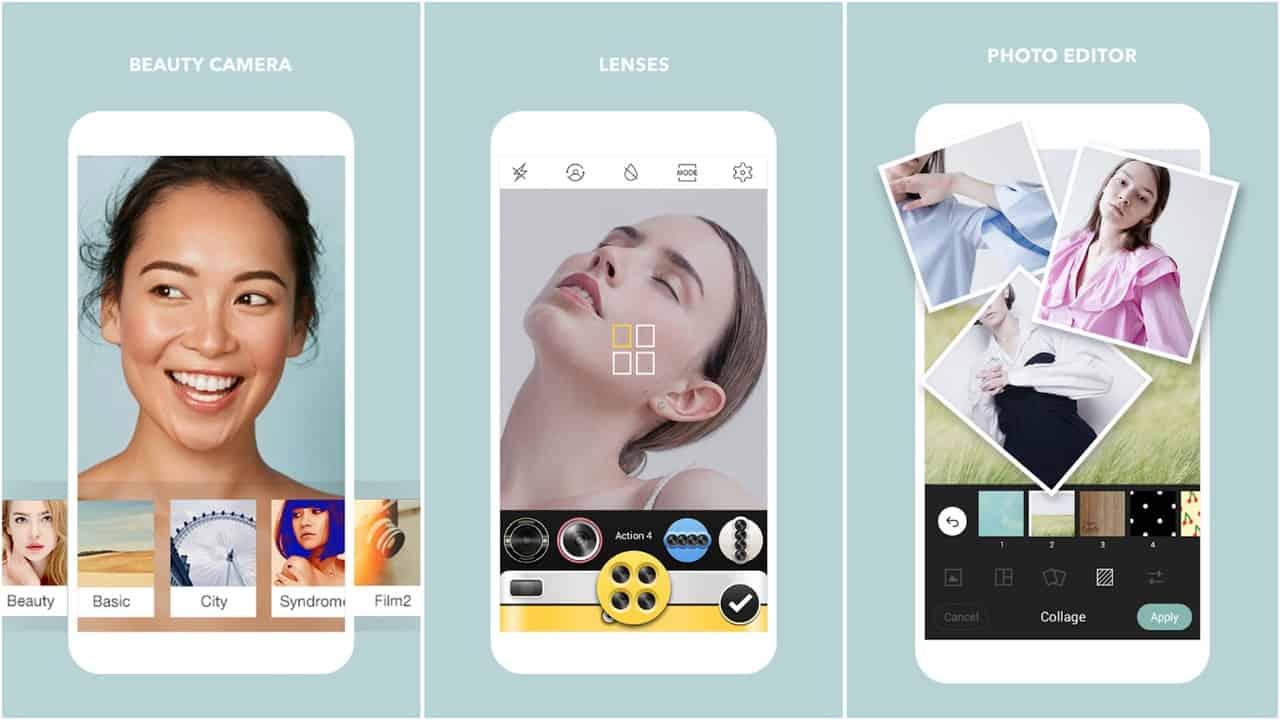 Cymera app grid