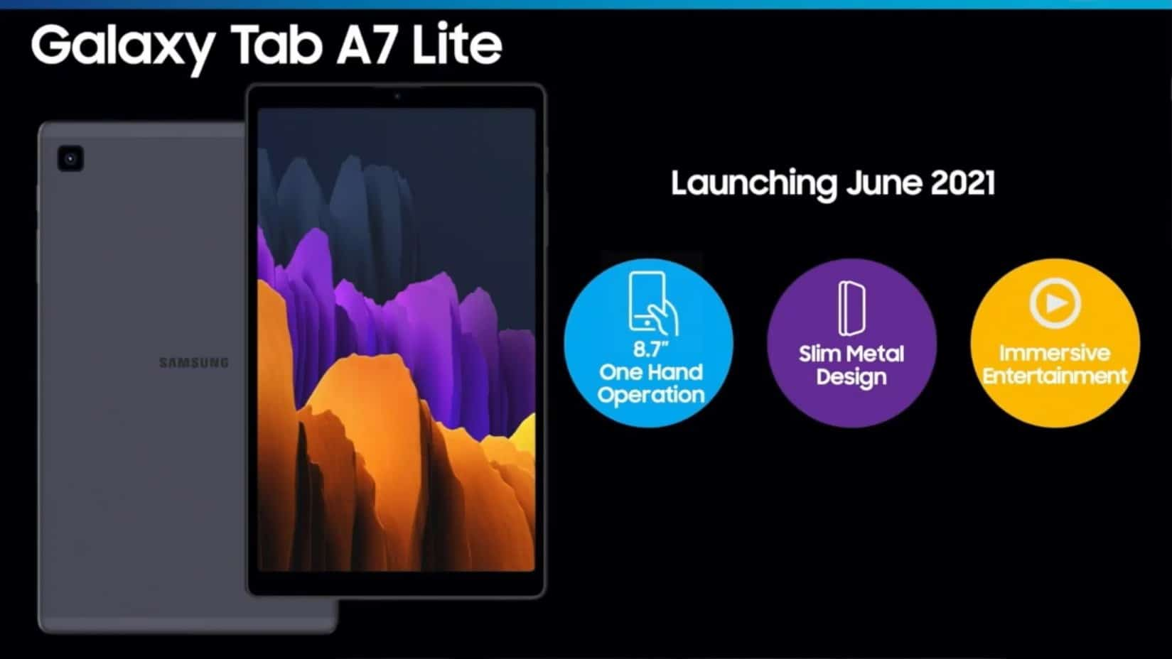 Galaxy Tab A7 Lite render 2