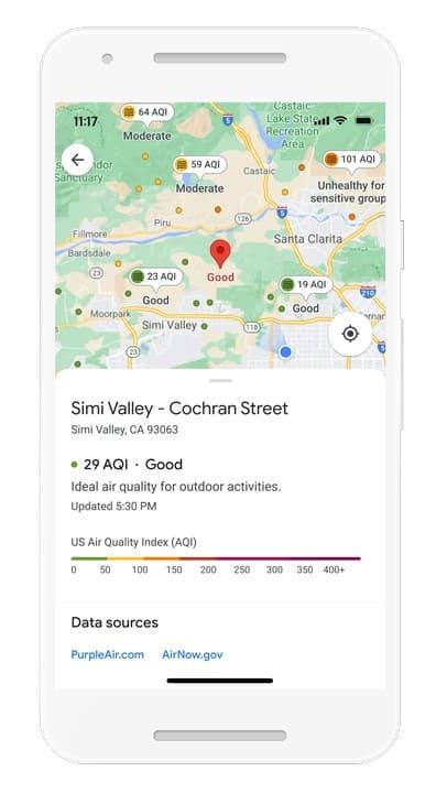 Google Maps Air Quality Layer