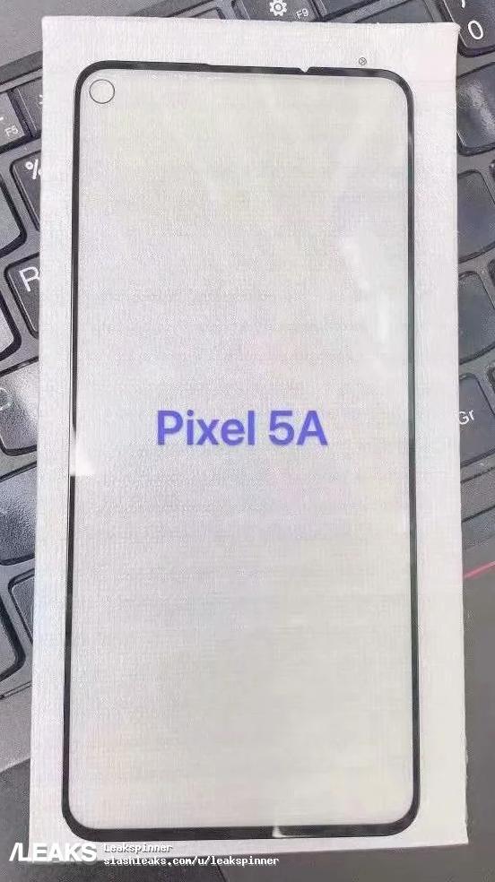 Google Pixel 5a screen protector leak