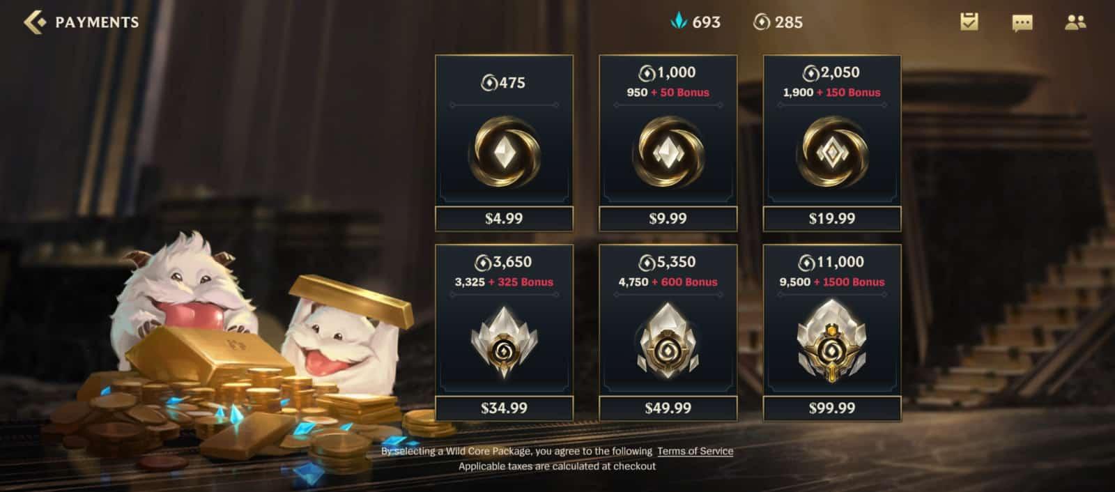 League Of Legends Wild Rift Micro Transactions 1
