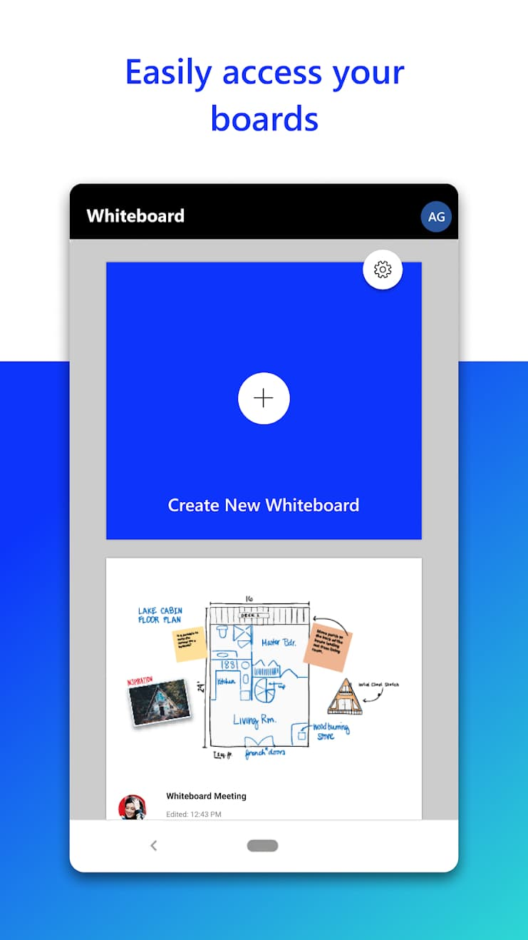 Microsoft Whiteboard screencap 01 from Google Play