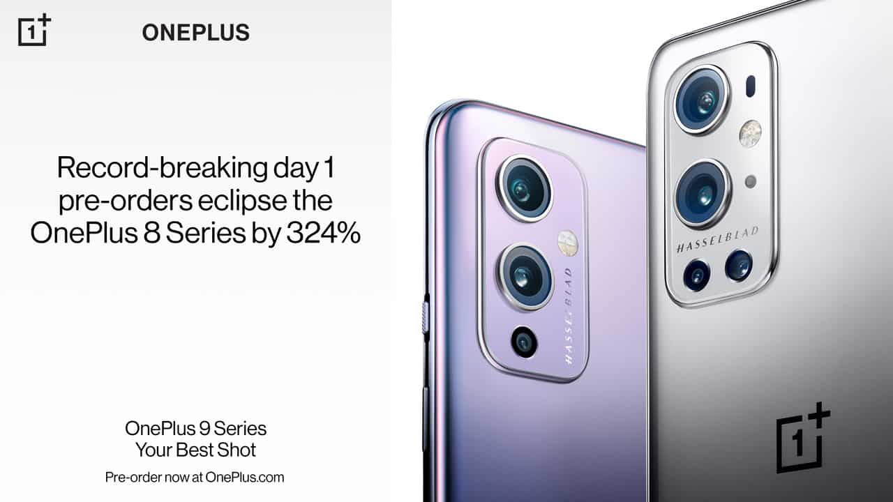 OnePlus 9 series day 1 pre orders
