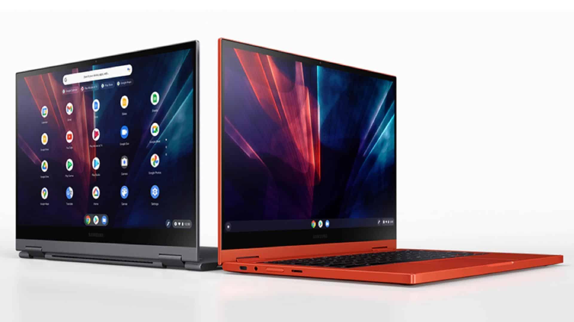 Samsung Galaxy Chromebook 2 presser