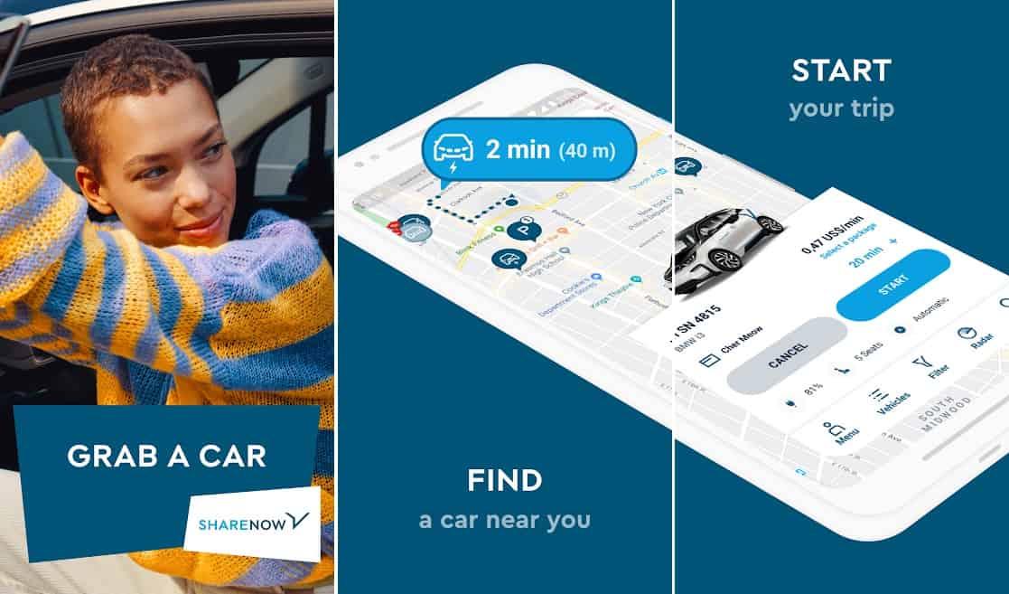 Share now car rental app