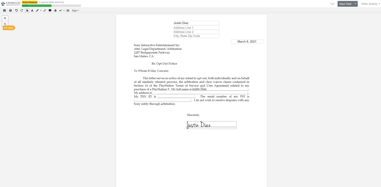 Sony PS5 Arbitration 1