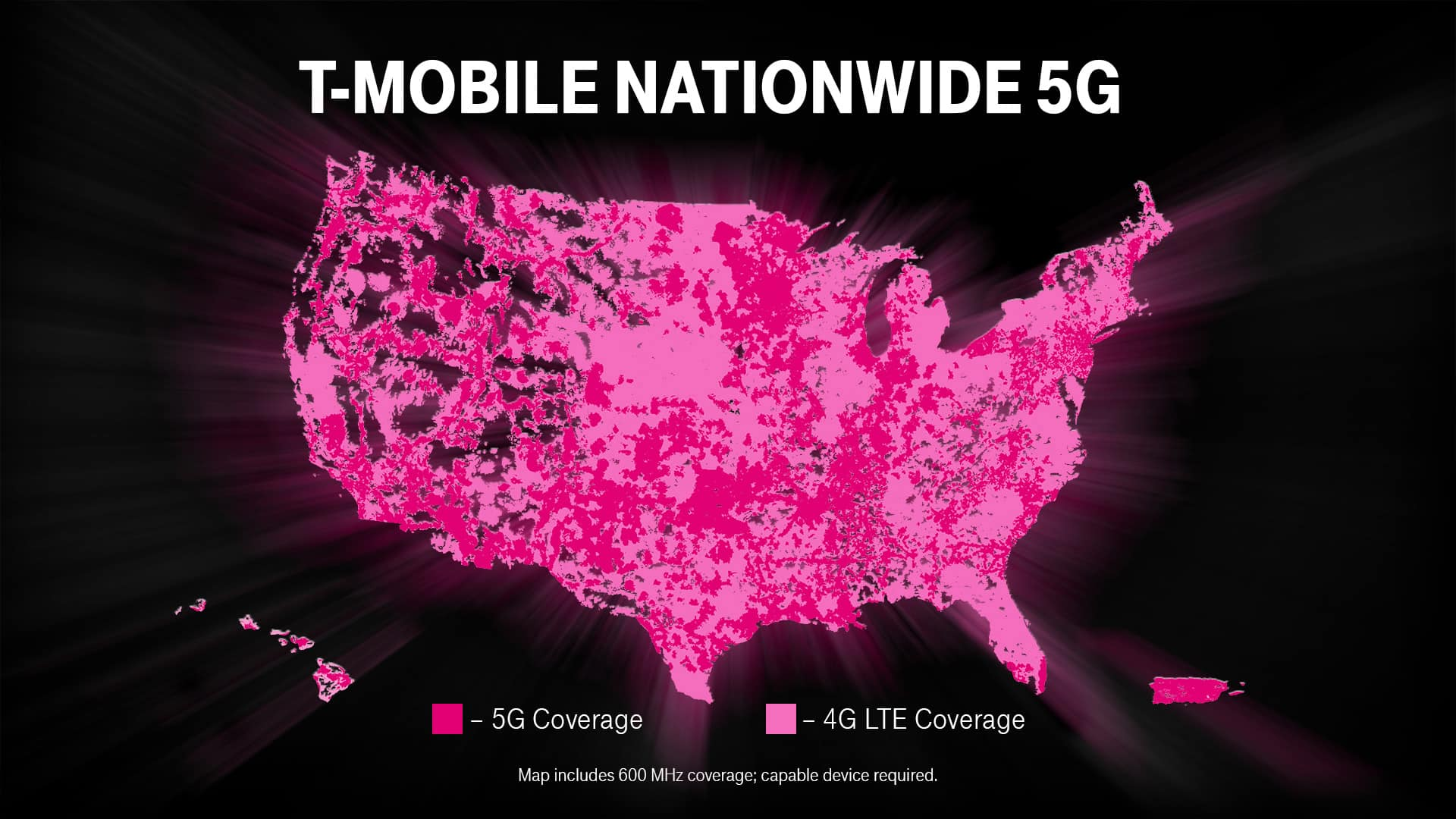 T Mobile Nationwide 5G Map