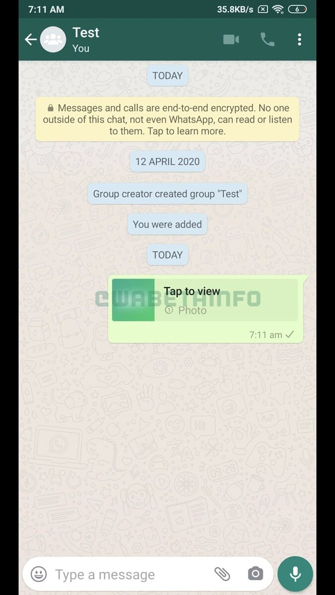WhatsApp Self Destructing Images 3