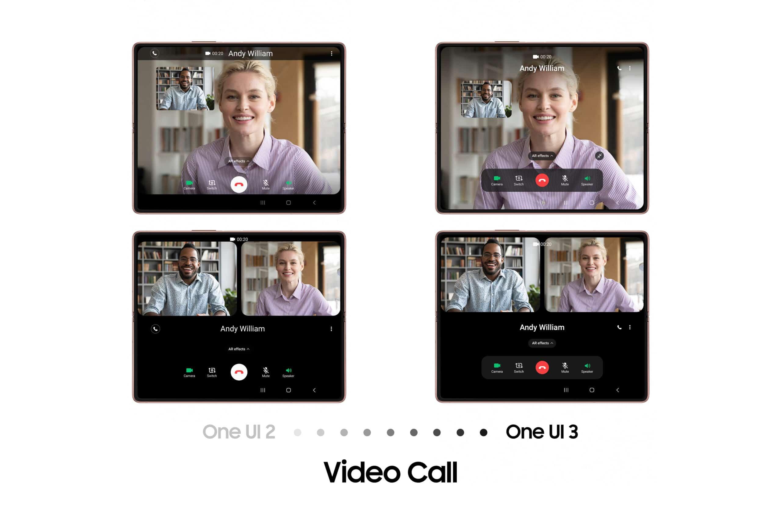 galaxy z fold2 video call