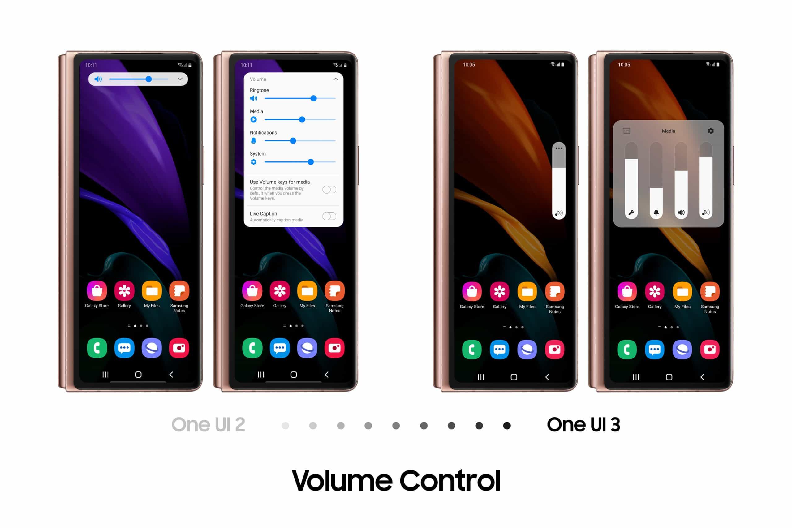 galaxy z fold2 volume control