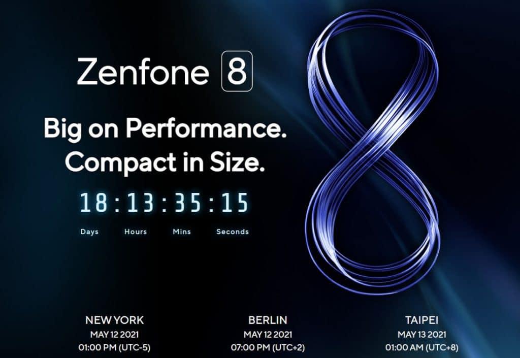 ASUS ZenFone 8 launch invite