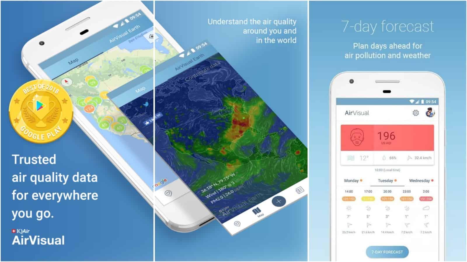 Imagen de red de la aplicación AirVisual