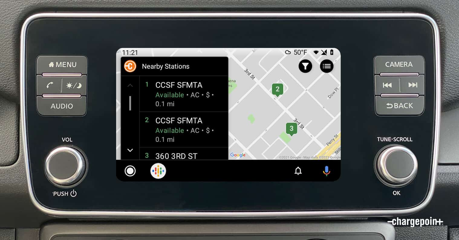 ChargePoint EV Charging Network Adds Support for Android Auto