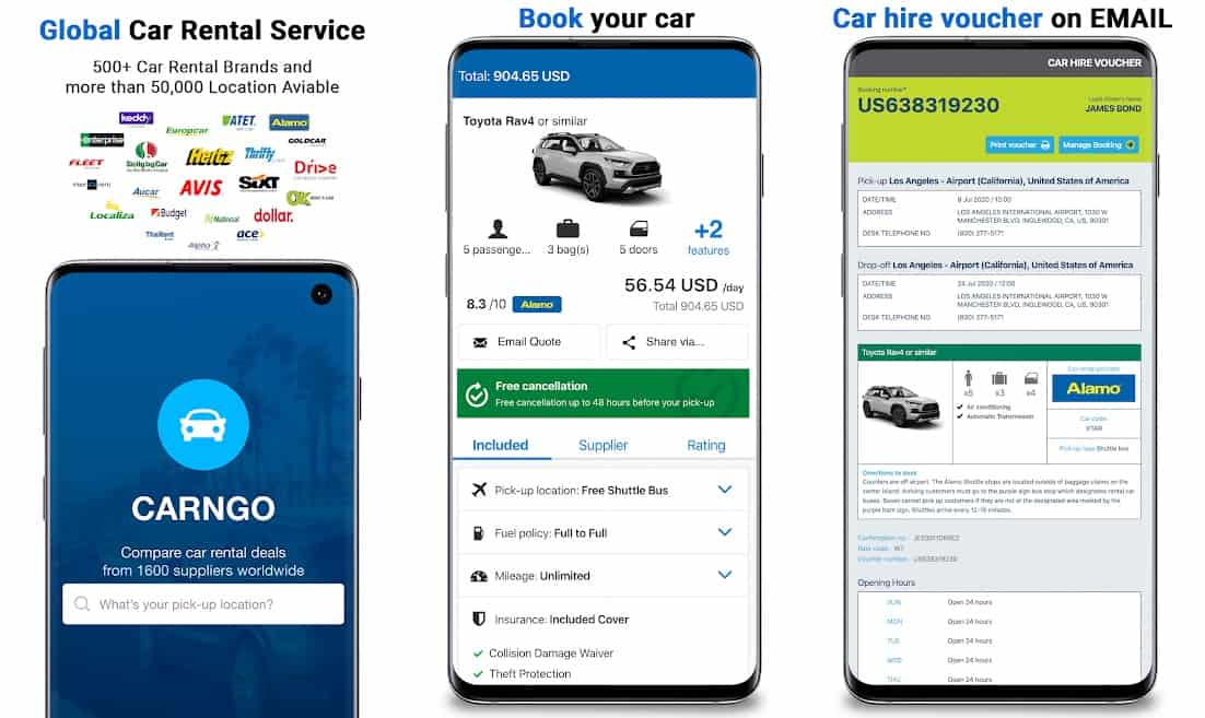 CARNGO car rental app
