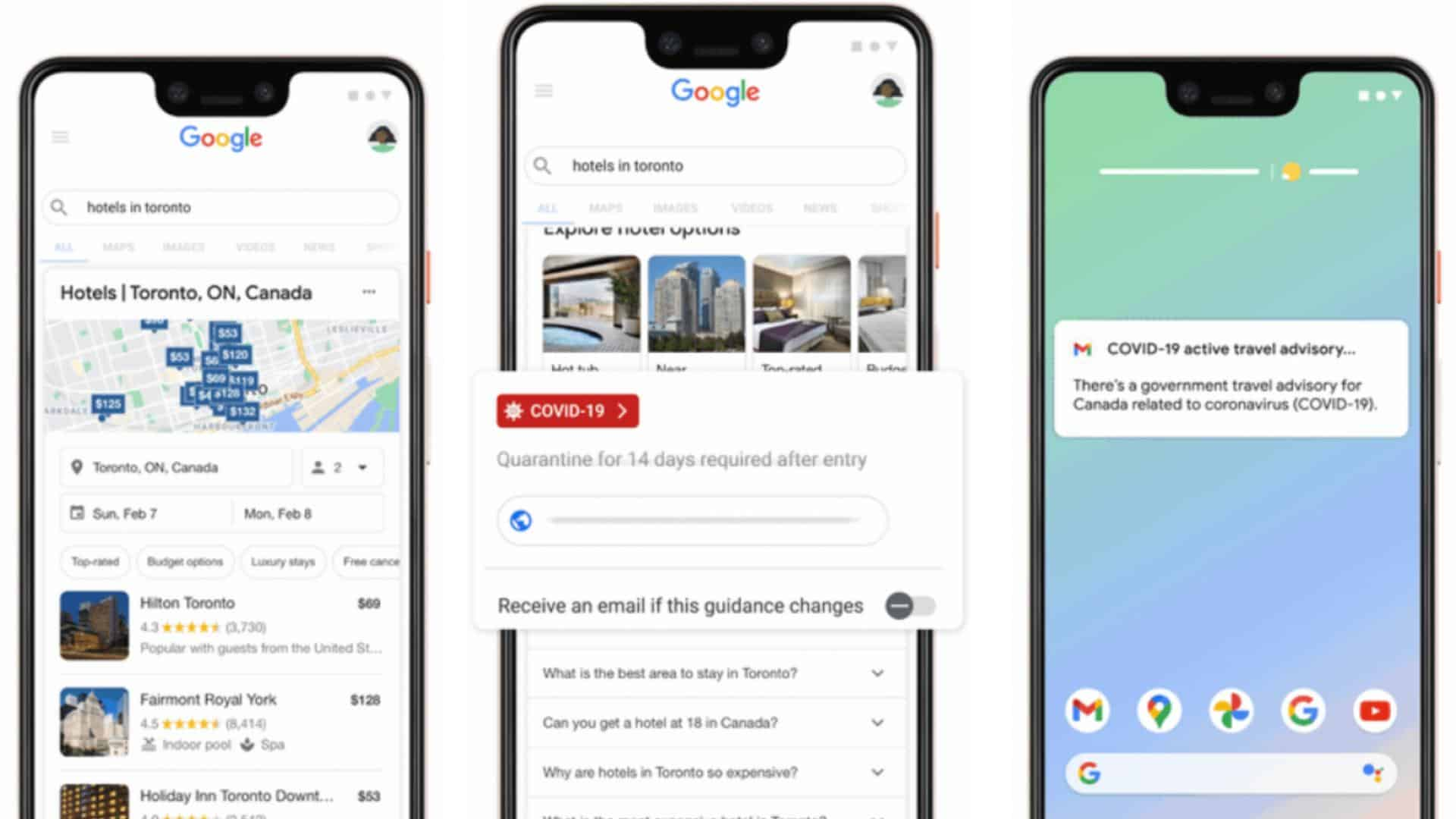Google Extends Covid-19 Travel Information In Search, Now With Alerts