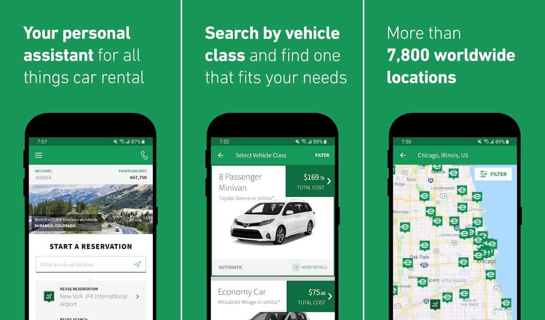 Enterprise rent a car app