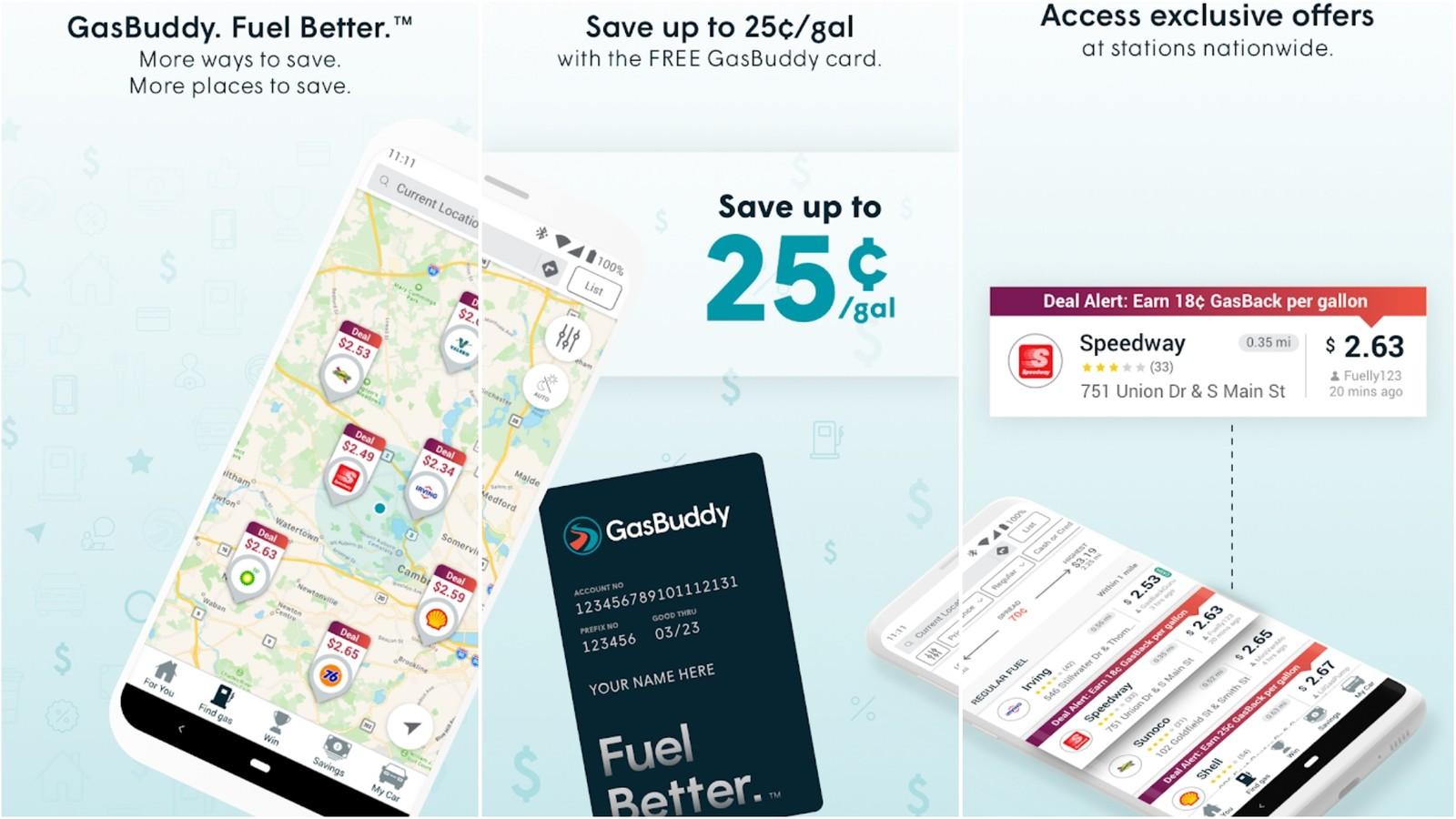 GasBuddy app grid image
