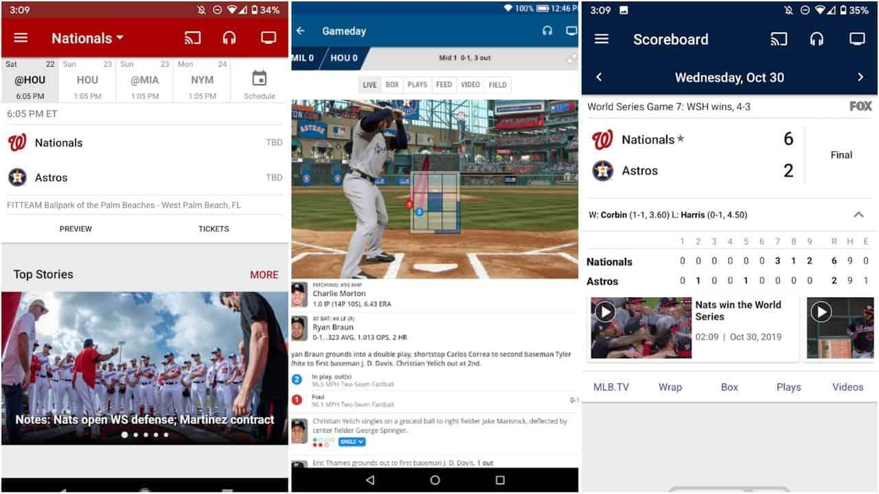 MLB app grid image