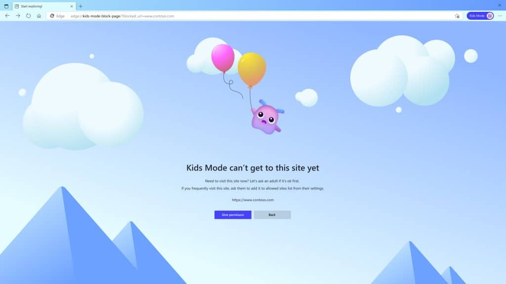 Microsoft Edge Kids Mode 2