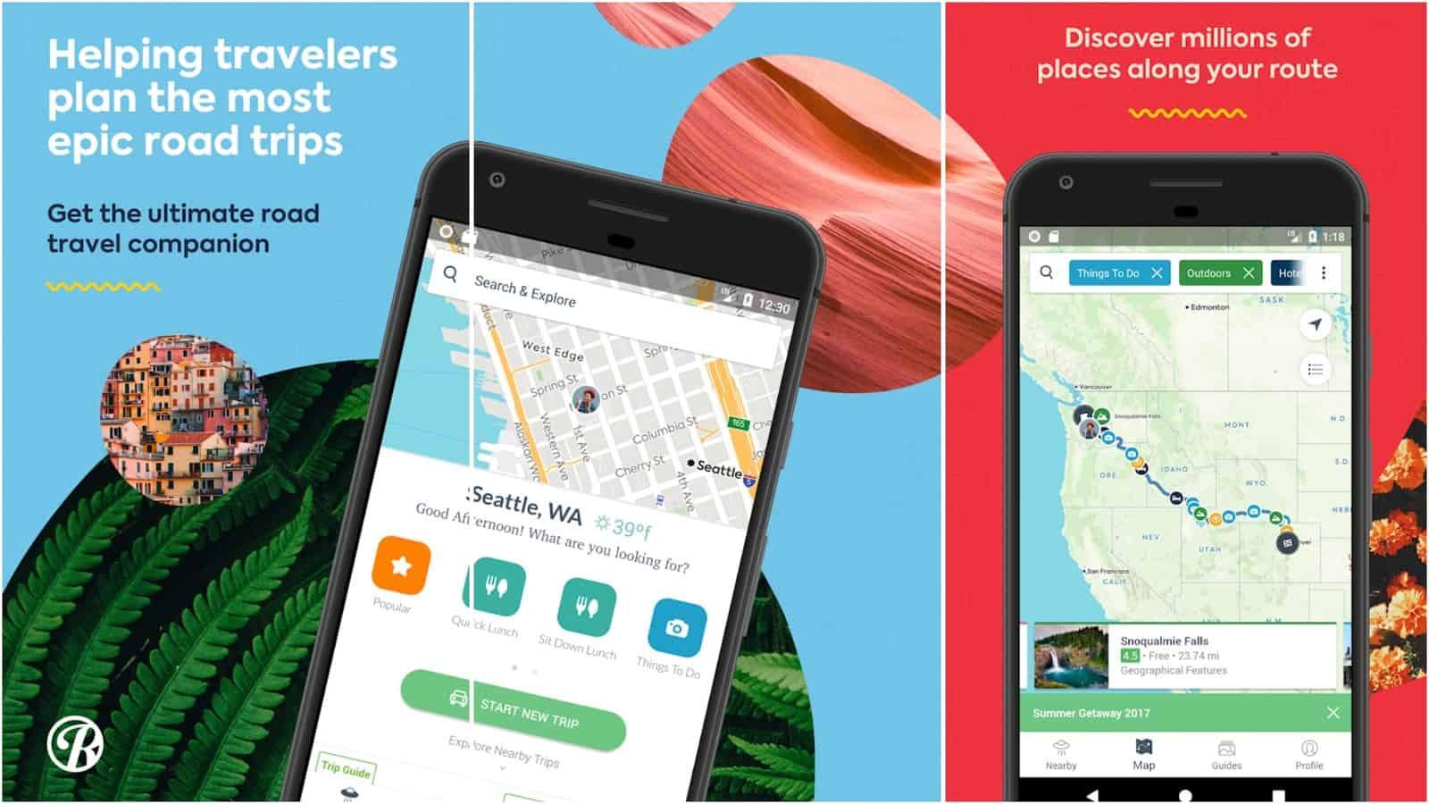 Roadtrippers app grid image