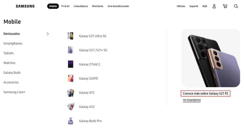 Samsung Galaxy S21 FE Mexico
