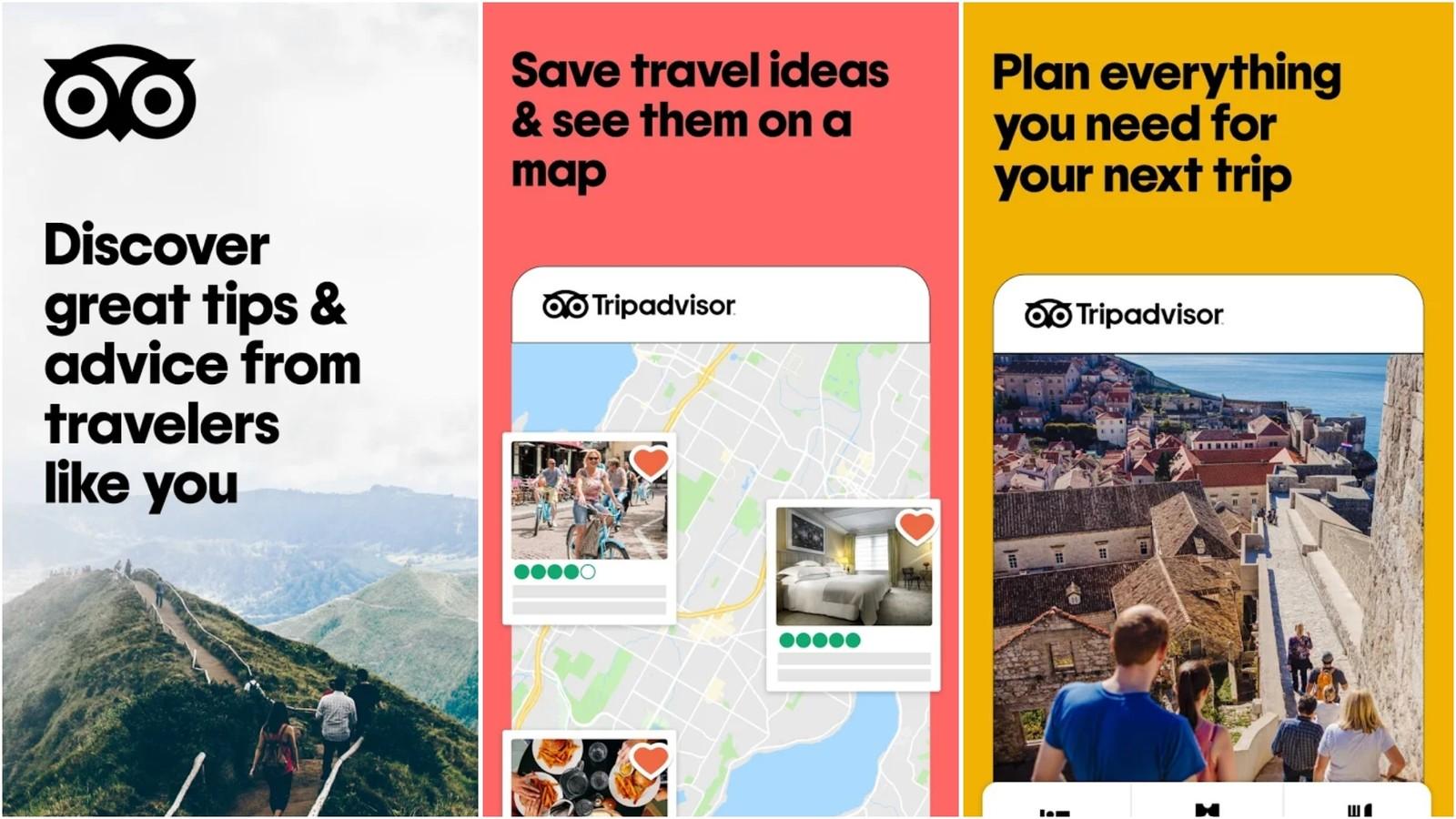 Image de la grille de l'application Tripadvisor