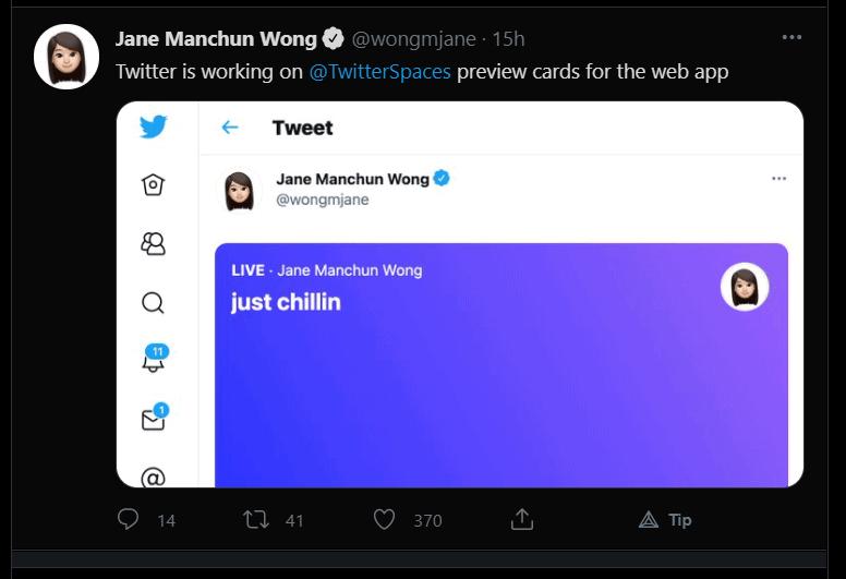 Twitter Spaces Tweet