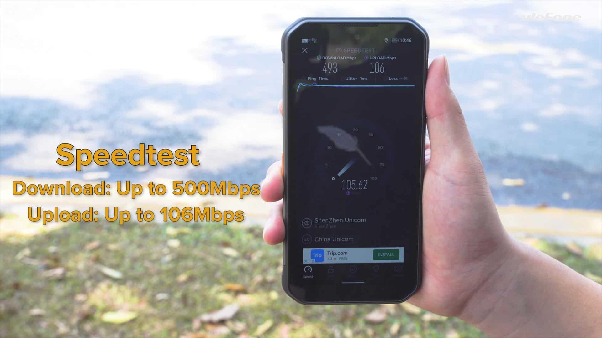 Ulefone Armor 11 5G connectivity test 2