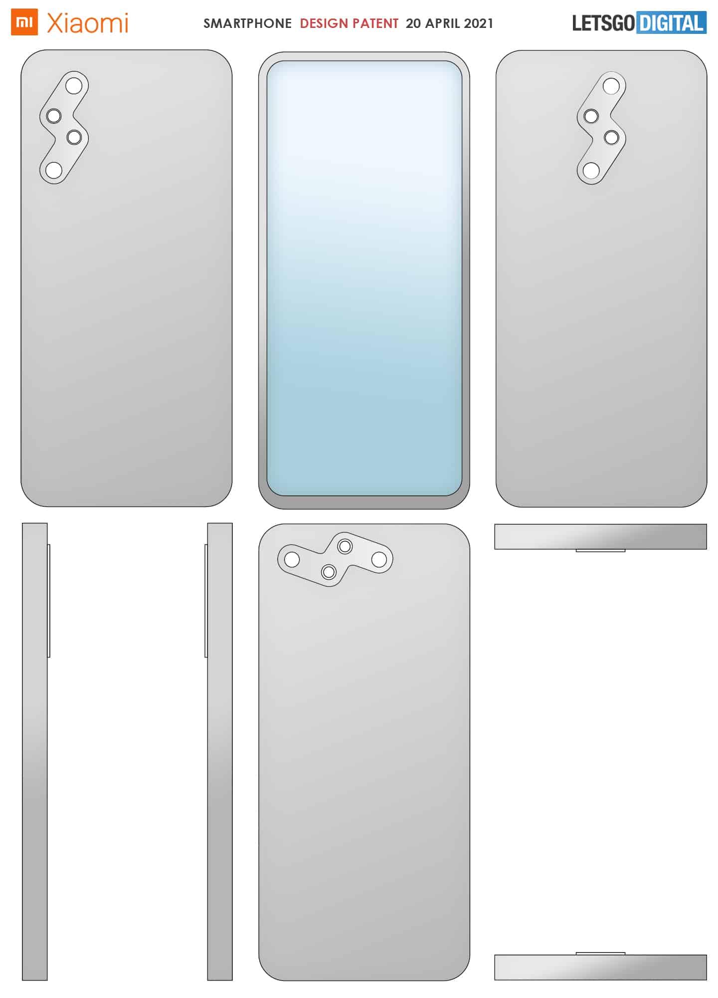 Xiaomi smartphone design thunderbolt camera 1