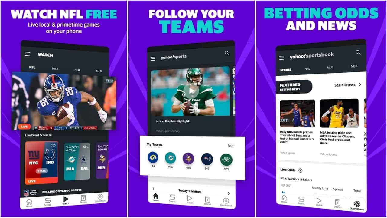Yahoo Sports app grid image