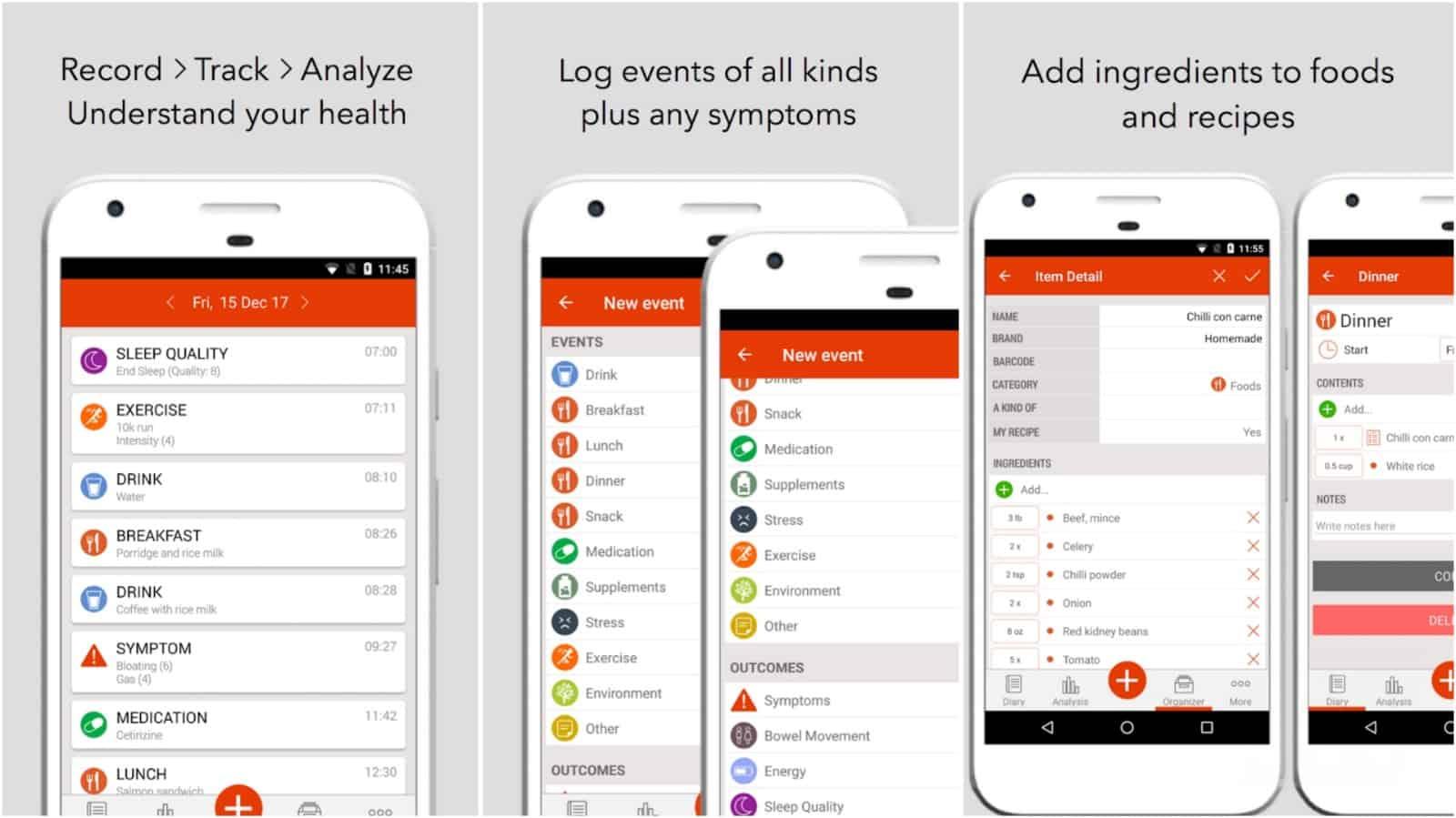 Imagen de red de la aplicación MySymptoms