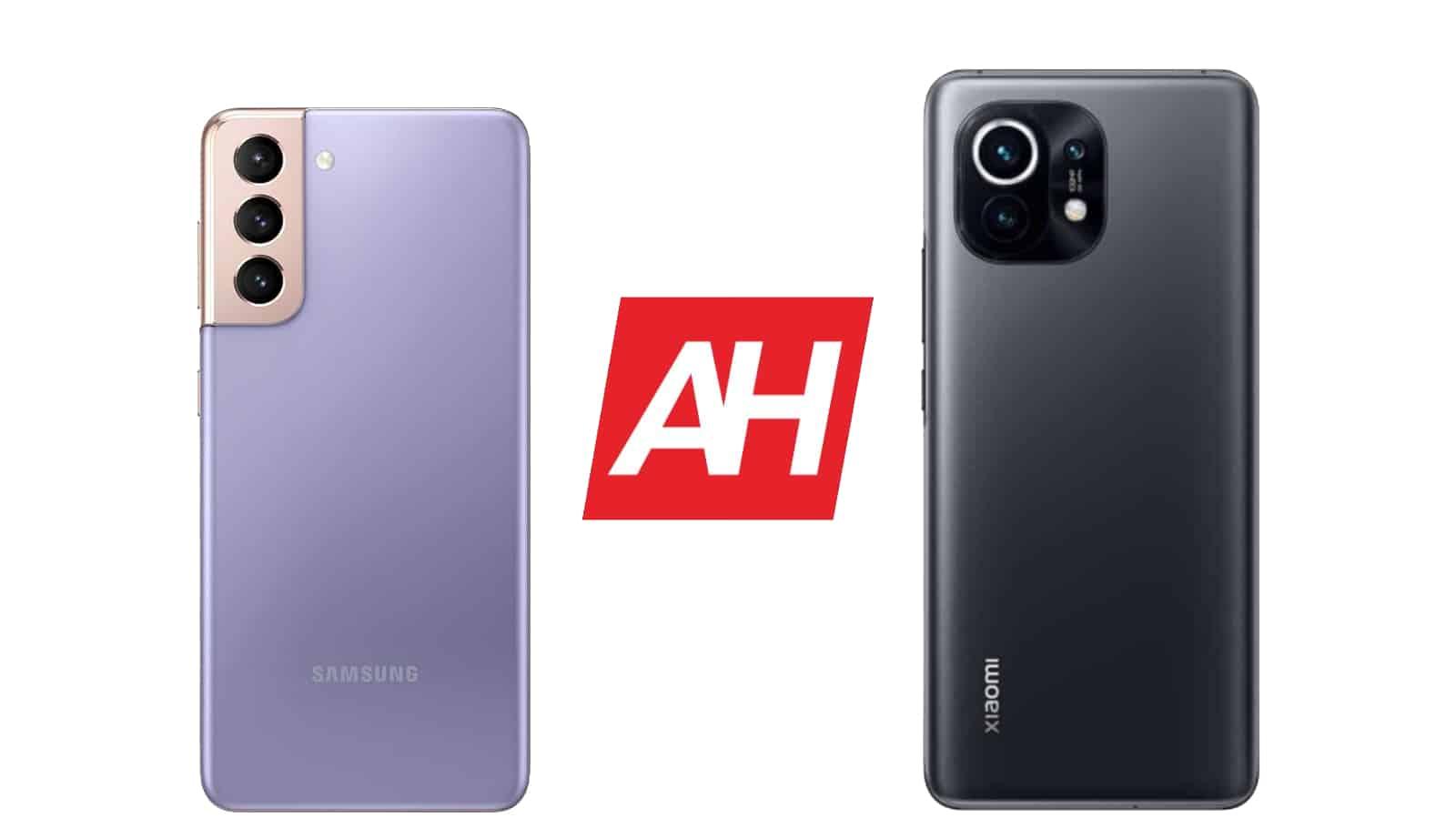 AH Samsung Galaxy S21 vs Xiaomi Mi 11 comparison 2