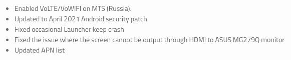 ASUS ROG Phone 3 update May 2021