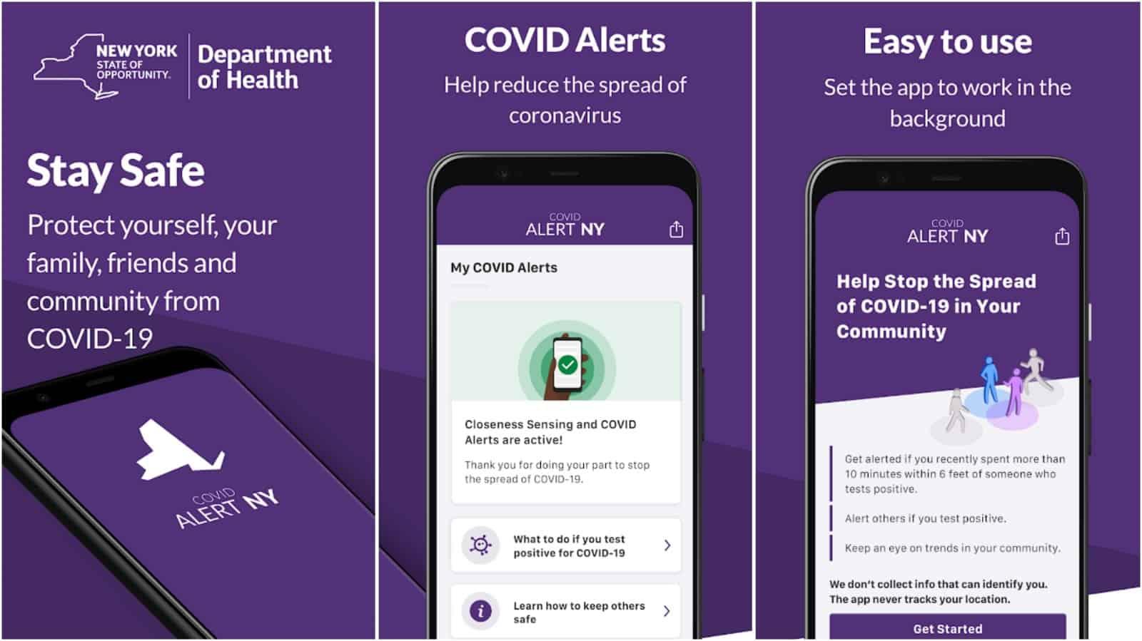COVID Alert NY app grid image