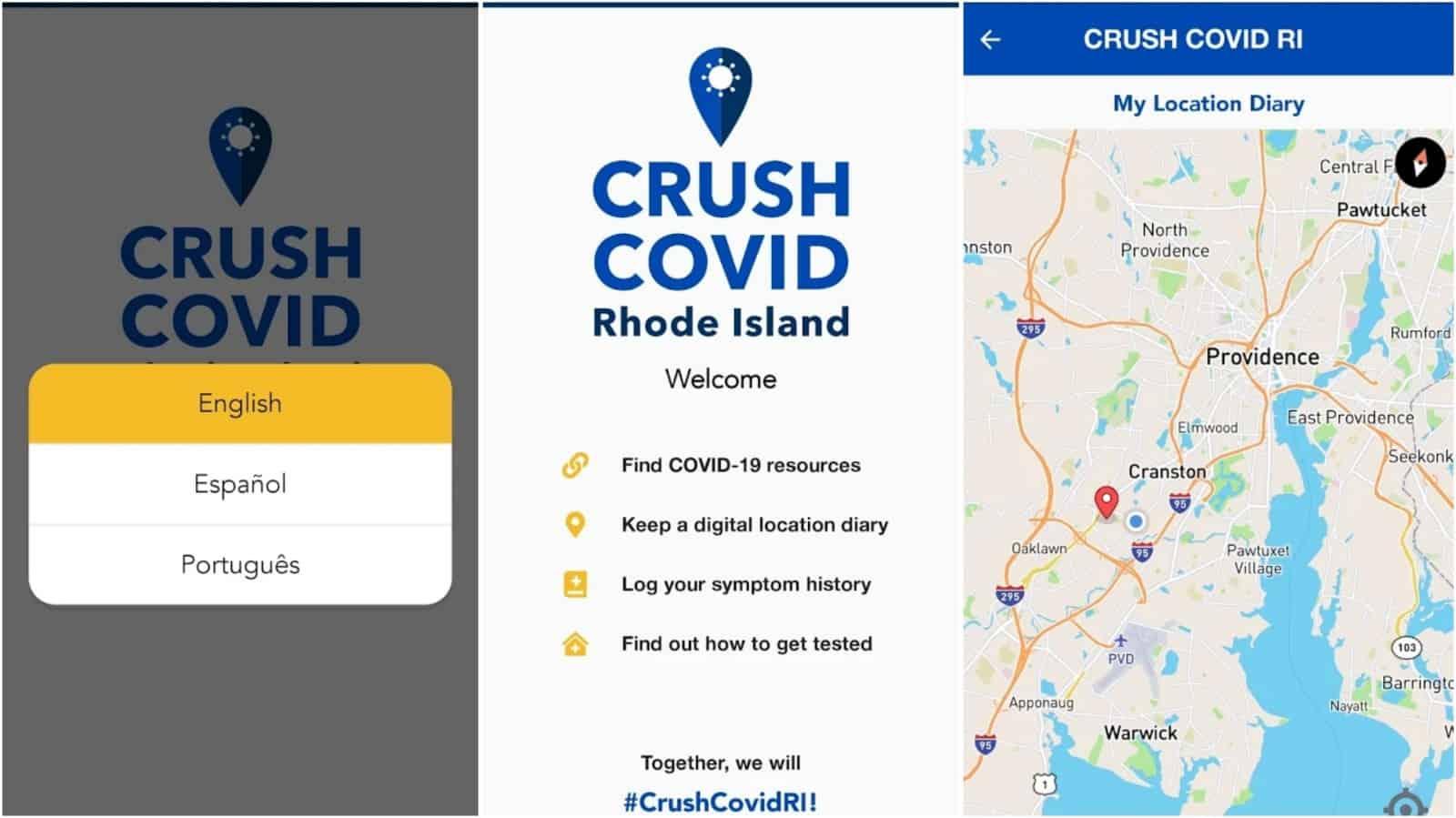 CRUSH COVID RI app grid image