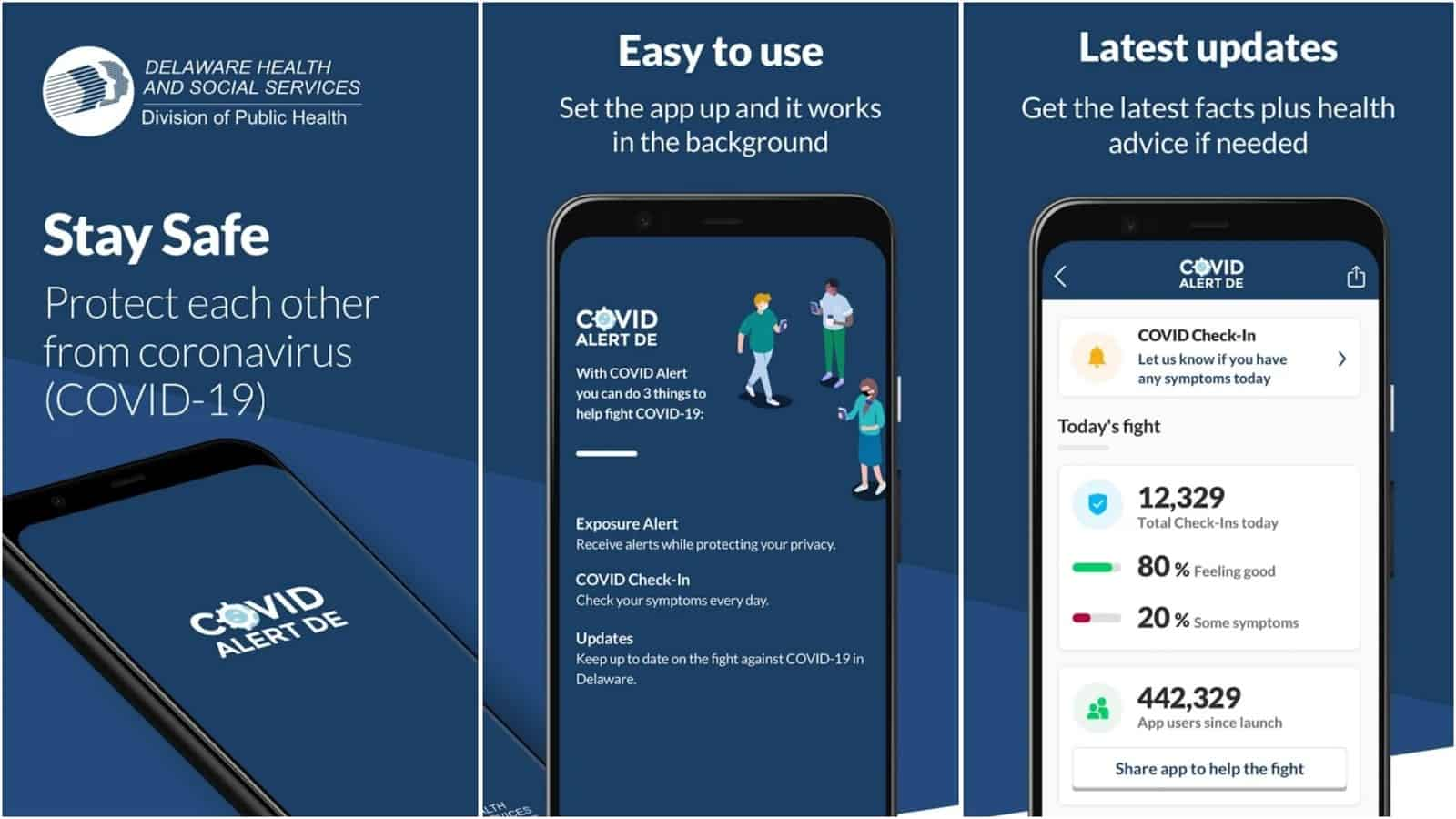 Covid Alert DE app grid image