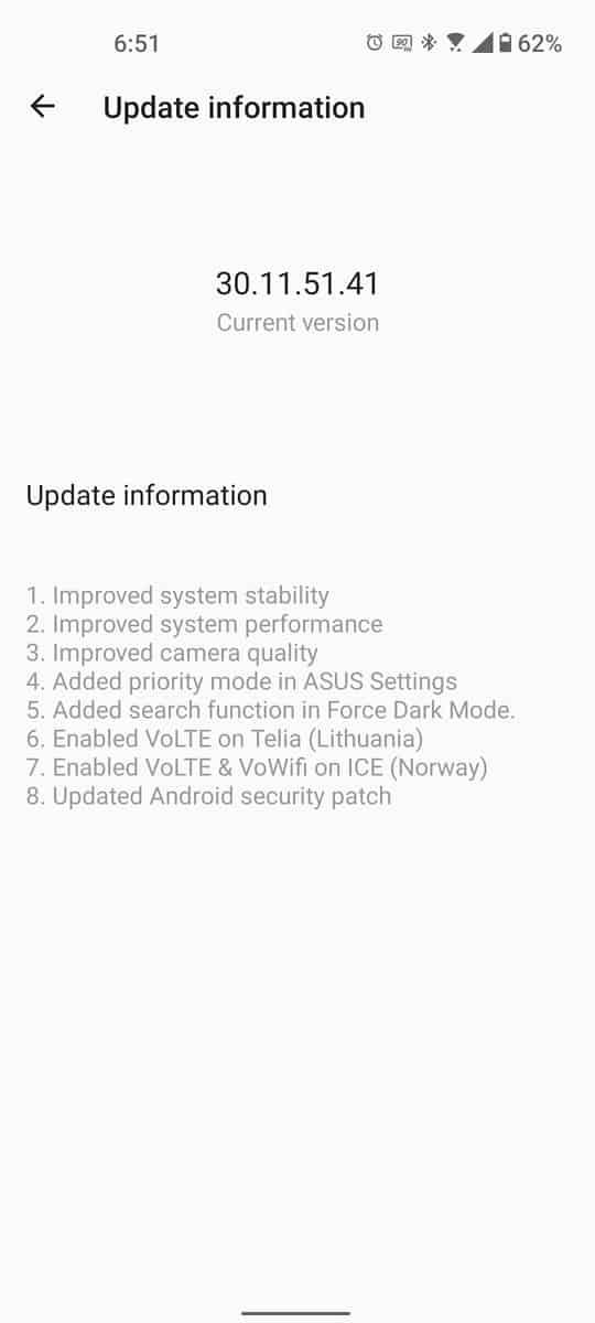 First ASUS ZenFone 8 update