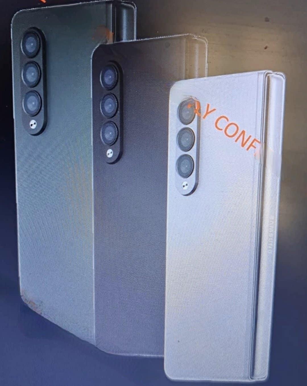 Galaxy Z Fold 3 design leak 1