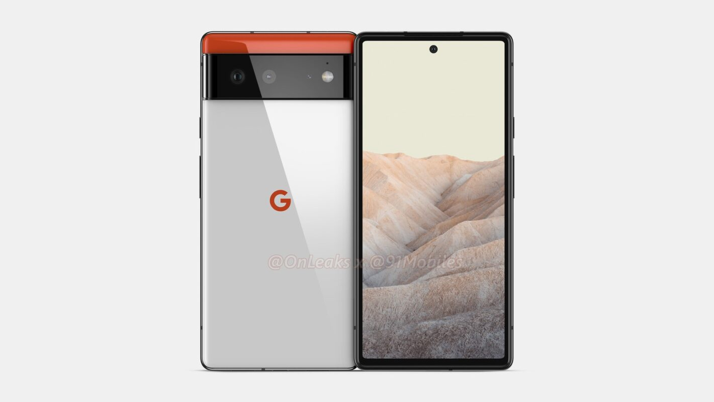 Google Pixel 6 CAD render 2