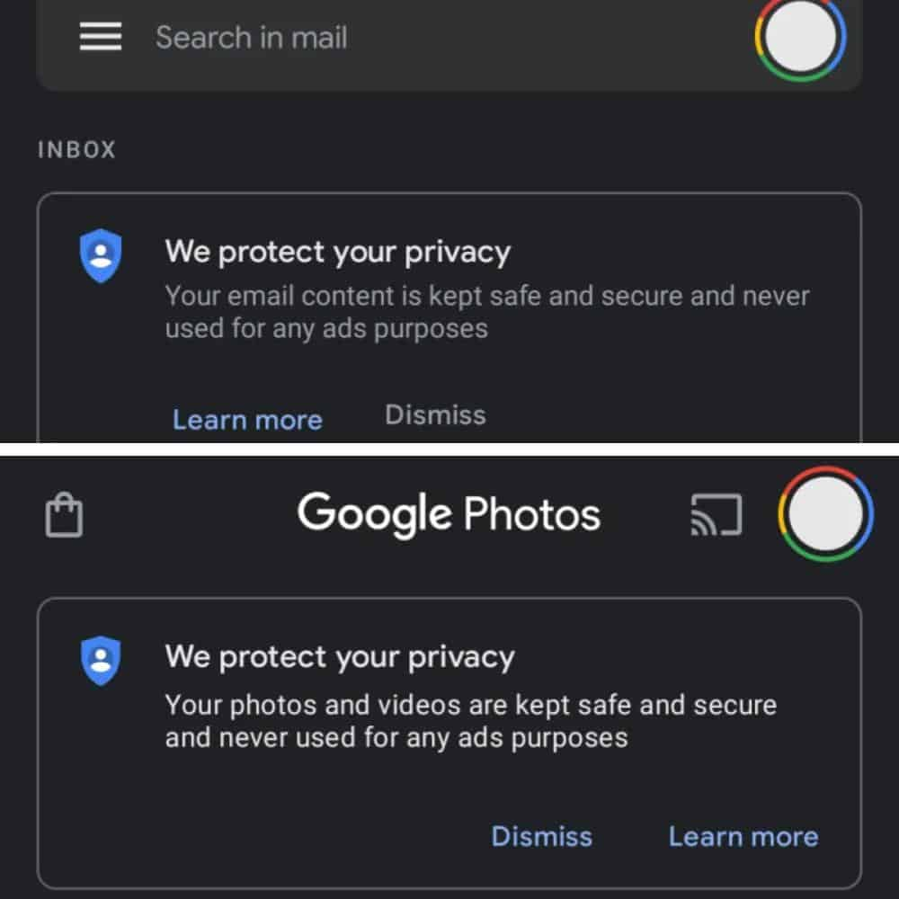Google privacy message io 2021 from 9to5Google