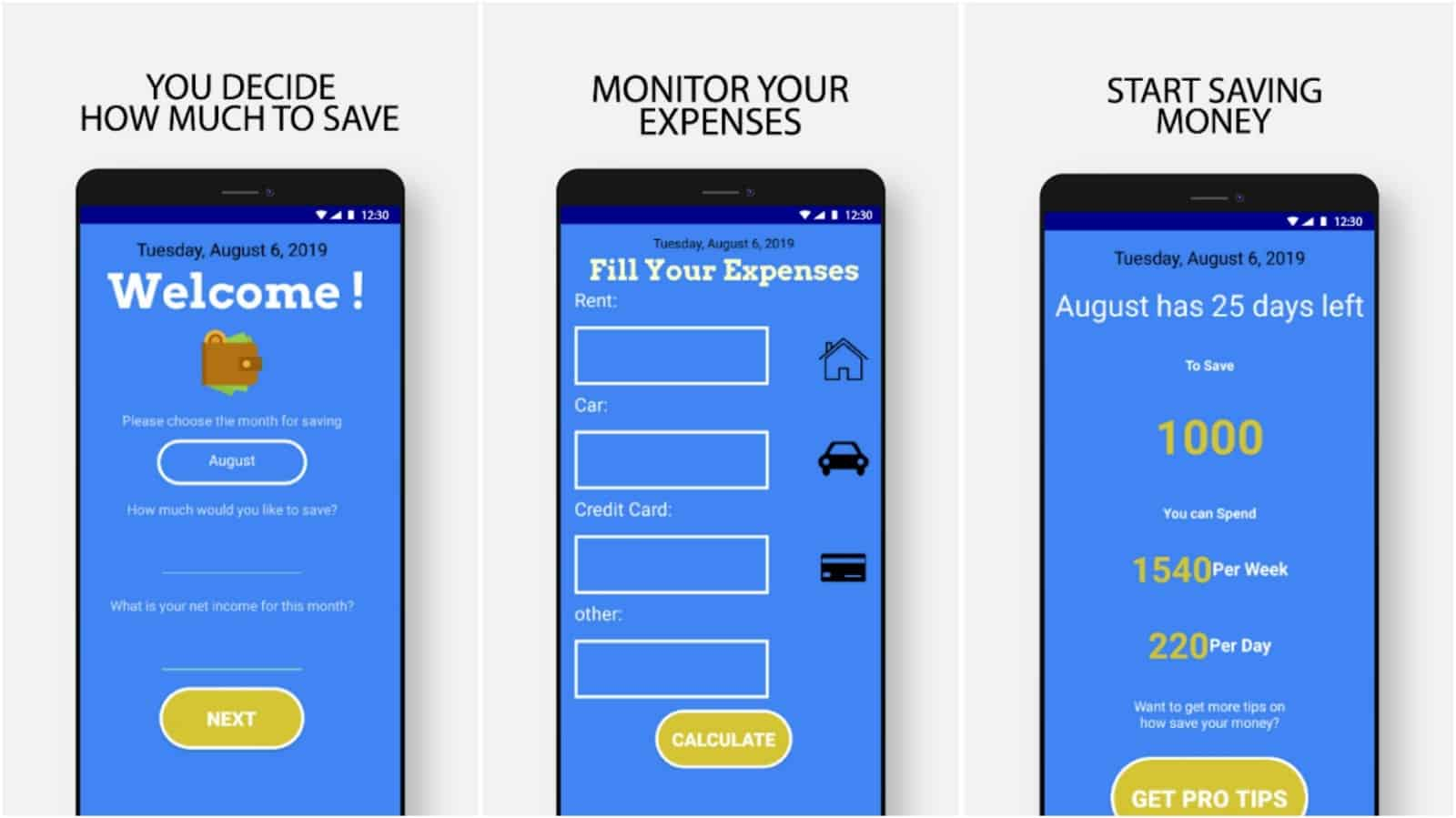 How To Save Money app grid image