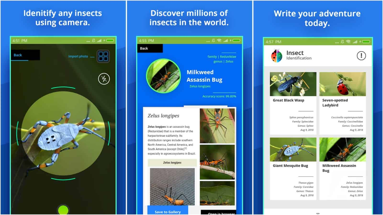 Insect Identifier app grid image