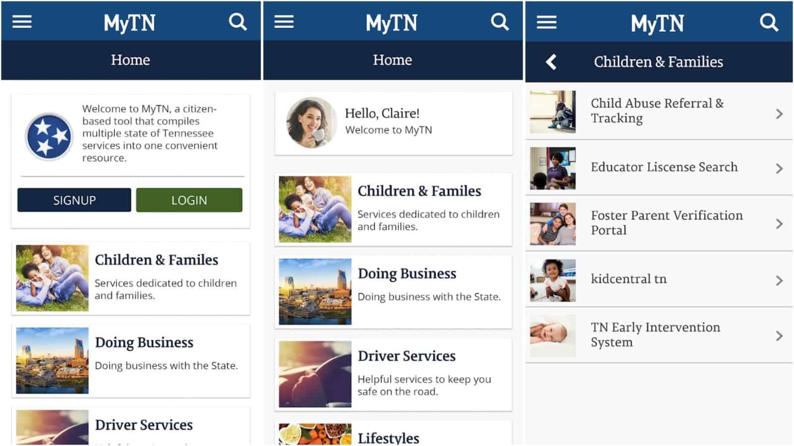 MyTN app grid image
