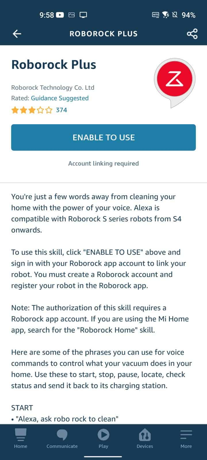 Roborock S7 Amazon Alexa 5