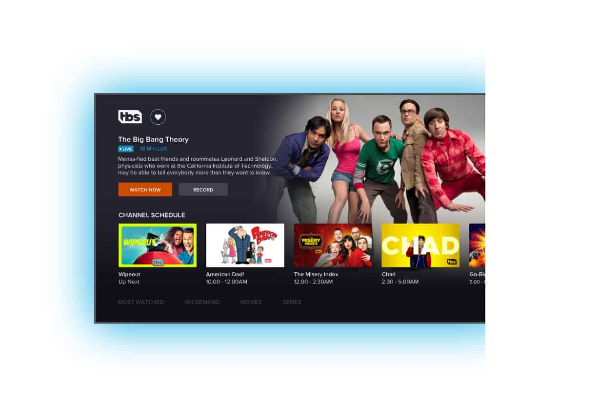 SLING TV New App Channel View
