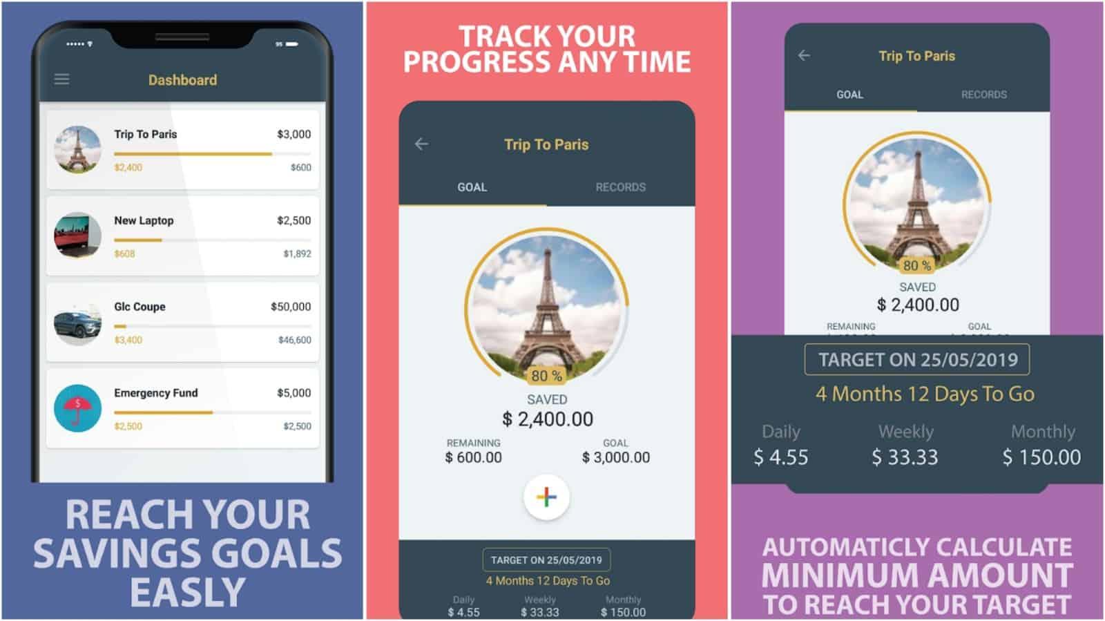Savings Goal app grid image