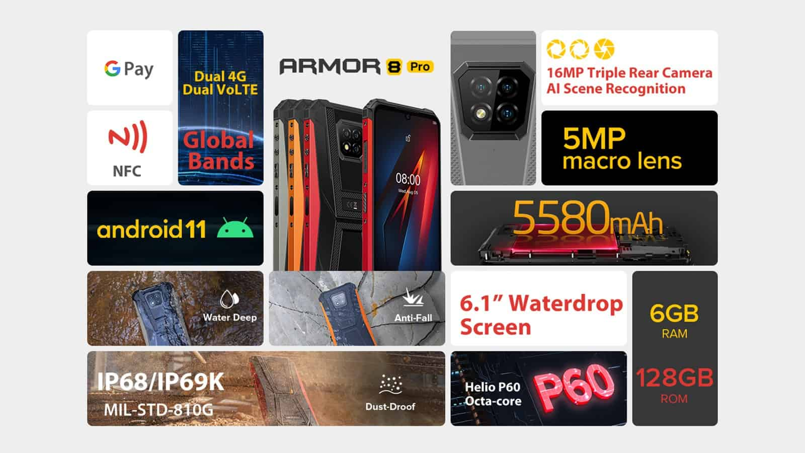 Ulefone Armor 8 Pro features