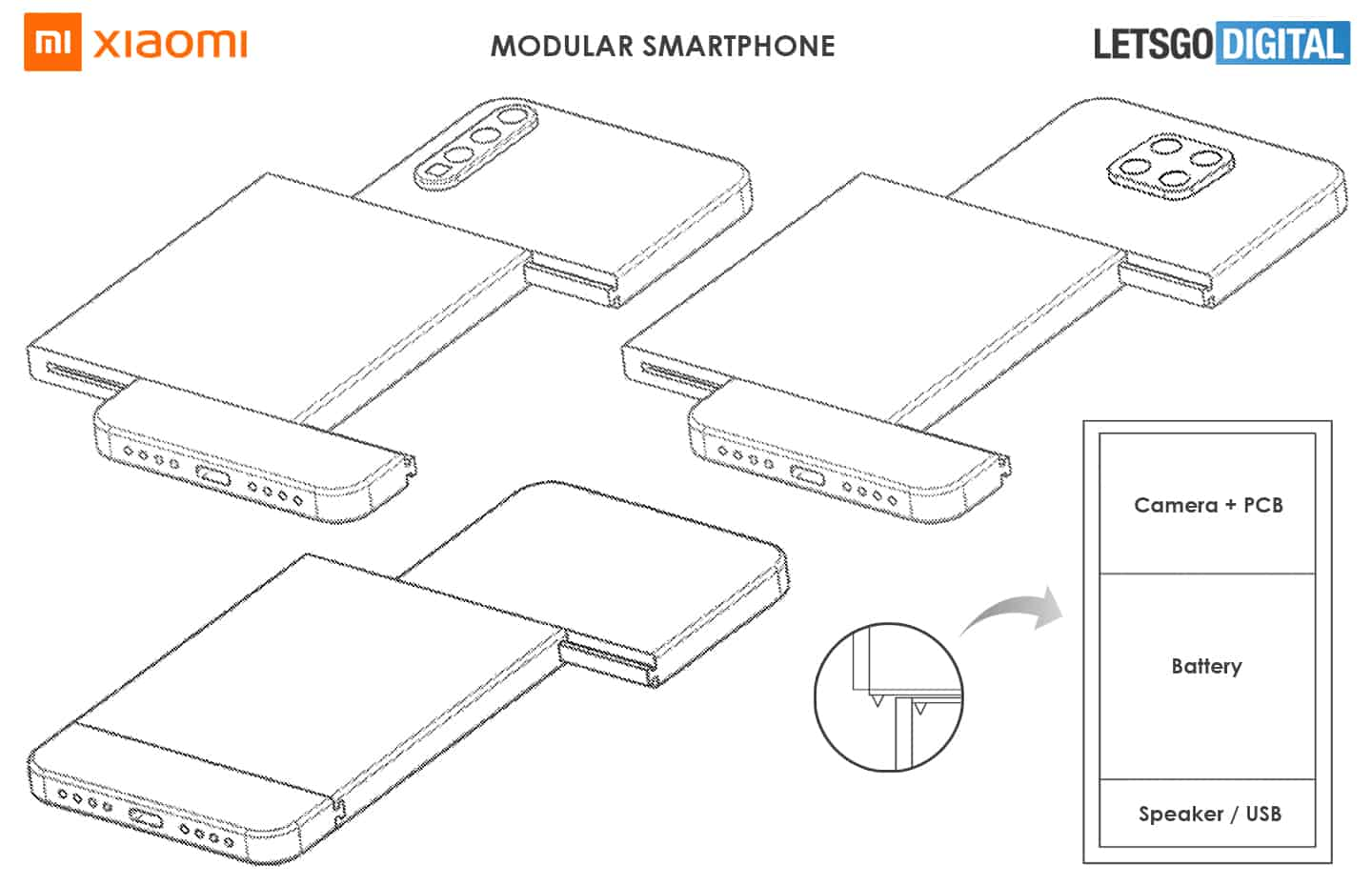 Xiaomi Patents Modular Smartphone With Dual Side Slider